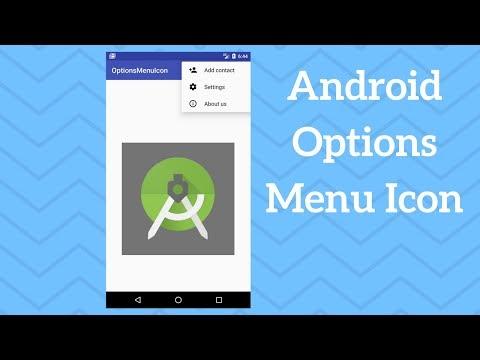 Android Options Menu Icon - Adding Icon to Menu Item (Demo)