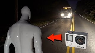 gopro mannequin footage goes thru phantom truck on clinton road... (we see inside the ghost truck?)