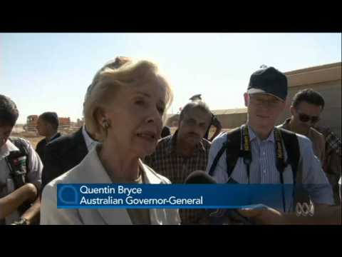 Australia's Governor-General speaks to Syrian refugees