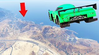 IMPOSSIBLE TO FLY THAT FAR! (GTA 5 Funny Moments)