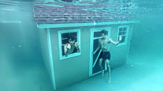 Download Living In A UNDERWATER HOUSE For 24 Hours! Video