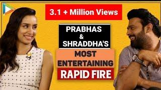 BLOCKBUSTER: Prabhas & Shraddha's MOST ENTERTAINING Rapid Fire | Aamir | SRK | Varun | Saaho