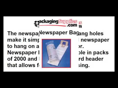 Newspaper Carrier Bags - Strong & Waterproof Protection