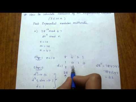 How to calculate a power b modulus n i.e (a ^ b mod n)
