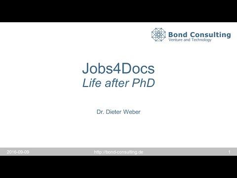 Jobs4Docs – Life after PhD