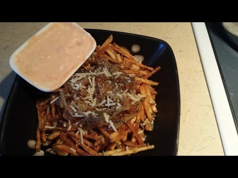 Crispy Shoestring Fries with Caramelized Onion