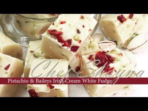Pistachio & Baileys Irish Cream white fudge recipe
