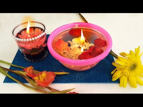 DIY Diwali Decoration Ideas : How to Make Beautiful Floating Water Candle in Few Minutes !