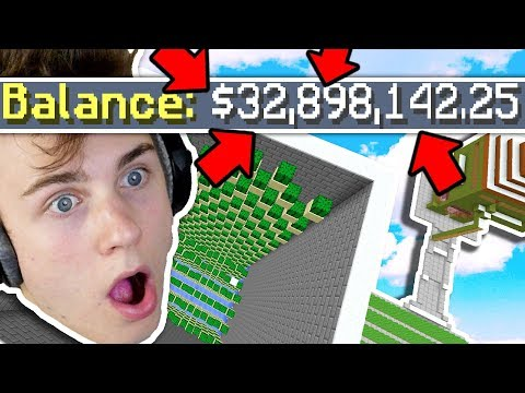 SOMEONE GAVE ME AN iNSANE AMOUNT OF MONEY ON SKYBLOCK!! (Minecraft)