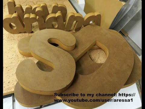 MDF Letters and Names Video