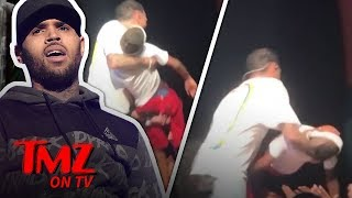 Chris Brown Saves Fainting Fan Onstage!   TMZ TV