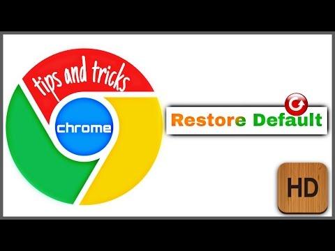 how to reset google chrome