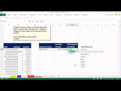 Mr Excel & excelisfun Trick 163: Monthly Expense Given End Date & Expense Name: Formula or Pivot?