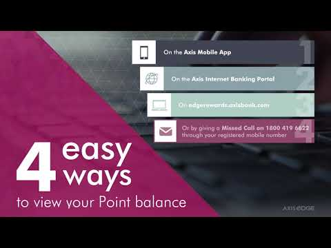 How to check your Axis eDGE Rewards Point Balance ?