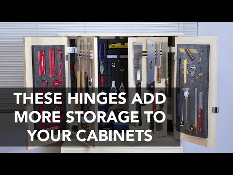 How to Mount a Double Cabinet Doors with Tandem Door Hinges