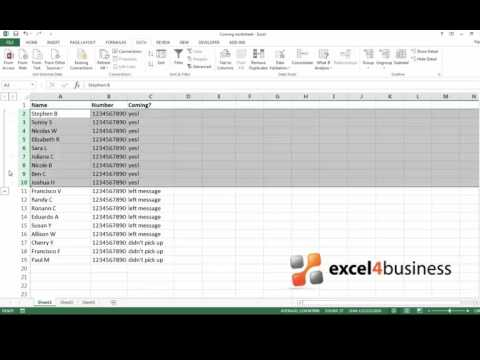 How to Group Rows and Columns in Excel 2013