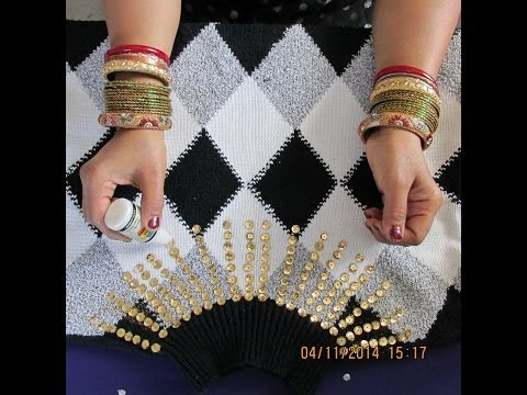 SWEATER DECORATIONS: DECORATE YOUR SWEATER  WITH SEQUINS AND GIVE A STYLISH LOOK.