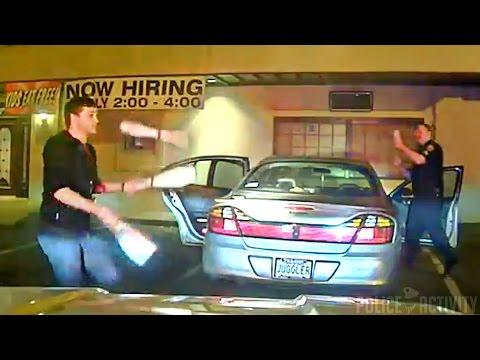 Dashcam Shows Student Juggles to Prove Sobriety to Police