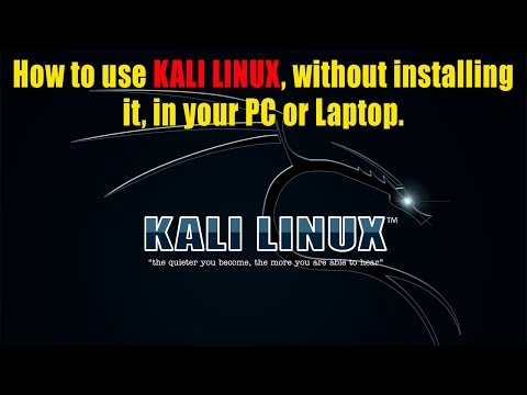 [Hindi] Use Kali Linux Without installing it in your Laptop or PC 🖥