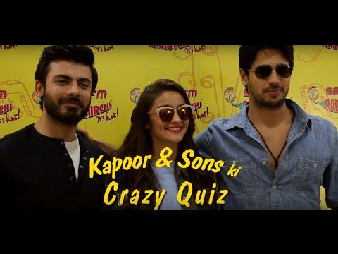 Bollywood IQ Quiz with Alia Bhatt, Sidharth Malhotra & Fawad Khan