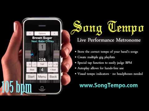105 BPM Metronome - 10 Minutes Click Track - www.SongTempo.com