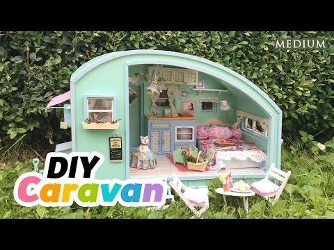 DIY Dollhouse Summer Caravan - Super Relaxing Miniature Tutorial