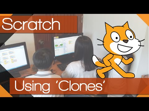 Scratch - Tutorial 09 - 'Clone' a sprite and create a scrolling game!