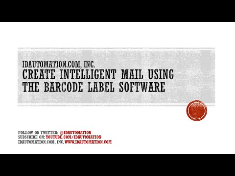 How to create Intelligent Mail Barcodes using the Barcode Label Software