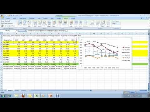 9) How to create a multi-series line graph in Excel - for Carleton University BIOL 1004 & 1104
