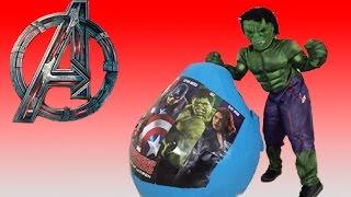NEW AVENGERS 2015 SURPRISE EGGS   Hulk, Captain America, Iron Man, Thor   Toy Unboxing Videos