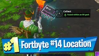 Fortnite Fortbyte #14 Location - Found within an RV Park