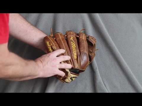 Mizuno Classic GCP41F Baseball Glove Relace - Before and After Glove Repair