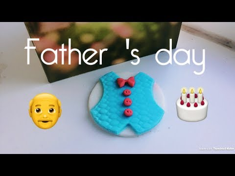 father's day fondant  jacket cupcake topper
