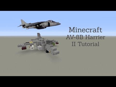 Minecraft Harrier Jet Tutorial (AV-8B Harrier II)