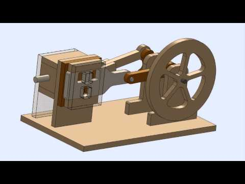Solidworks Model of CNC Air Powered Engine Design for DIY CNC Router