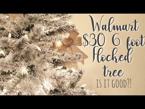 6 ft flocked Christmas tree for only $30?!? 🎄❄️🙊