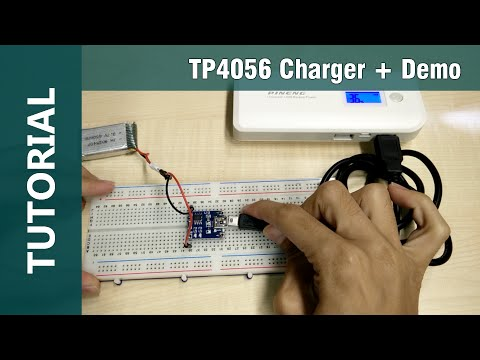 How to Charge Lithium Ion Battery using Mini USB 5V TP4056