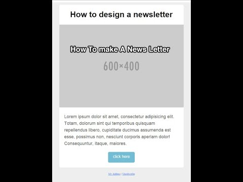 How to make an email newsletter with responsive web design