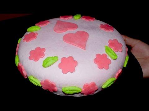 How to make Fondant Cake - Without Oven Fondant Cake - Cake Recipe