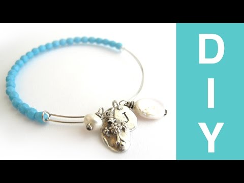 How to Make Adjustable Wire Bracelets - DIY Adjustable Bangle Bracelet Tutorial
