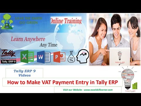 How to Make VAT Payment Entry in Tally ERP