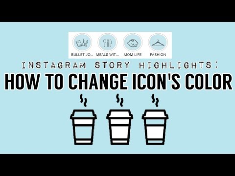 How To Change Icon's Color (White Icons) | INSTAGRAM STORY HIGHLIGHTS