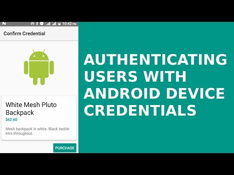 AUTHENTICATING USERS WITH ANDROID DEVICE CREDENTIALS