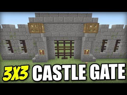 Minecraft PS4 - 3x3 CASTLE GATE DOOR - Redstone Tutorial - PE / Xbox / PS3 / Switch
