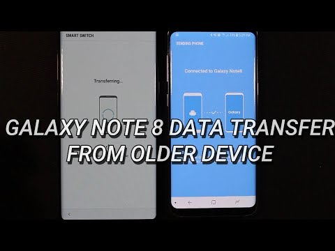Samsung Galaxy Note 8 Data Transfer from Older Device