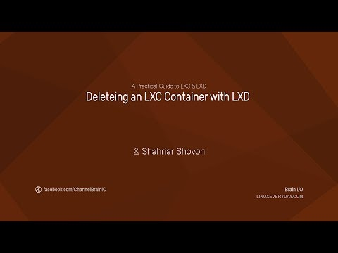 10. Deleteing an LXC Container with LXD
