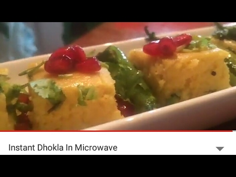 Instant Dhokla In Microwave