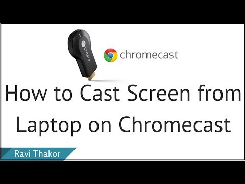 How to Cast Screen from Laptop on Chromecast | View PC in TV