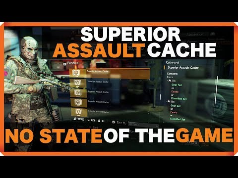 The Division | NO STATE OF THE GAME TODAY | 1.8 SUPERIOR ASSAULT CACHE OPENING !!