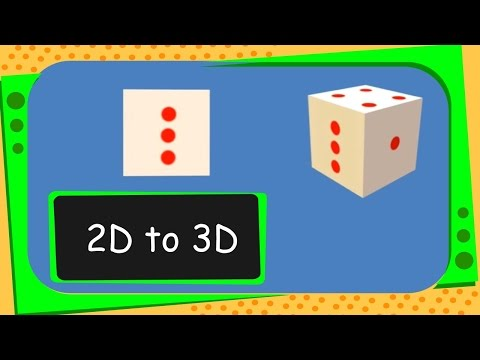 Maths - How to get 3D Shape from 2D Shapes - English